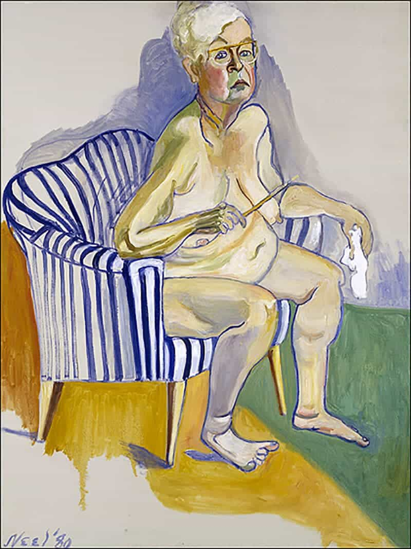 Alice Neel, self-portrait