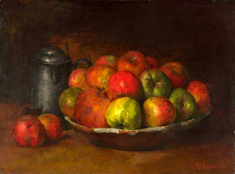 Gustave Courbet - Still Life with Apples and a Pomegranate