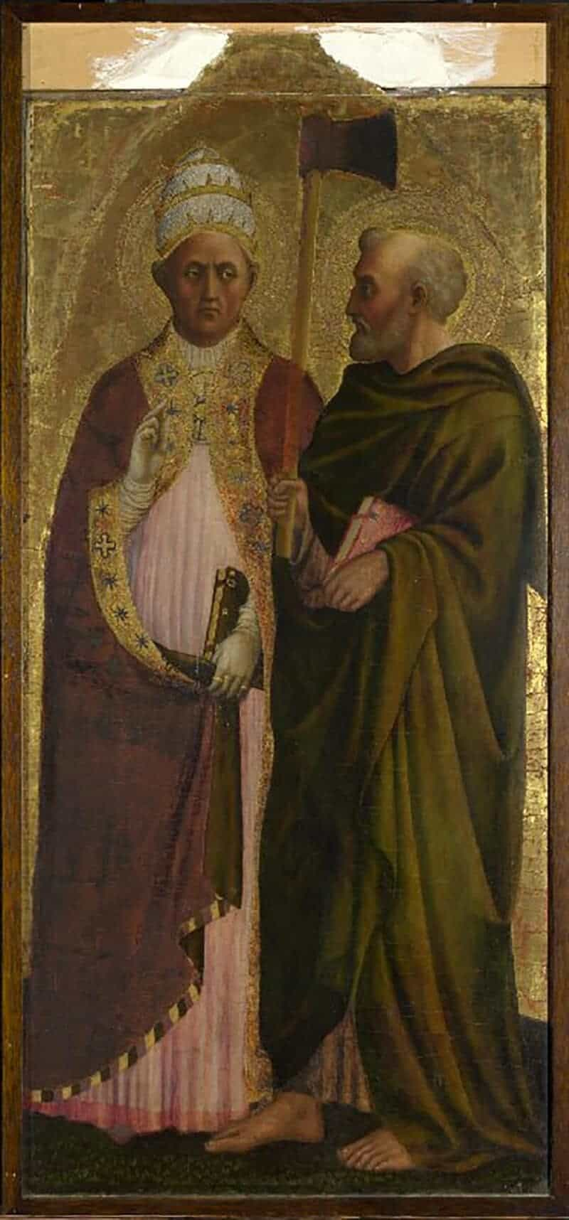 A Pope (Saint Gregory?) and Saint Matthias, about 1428-9, Masolino