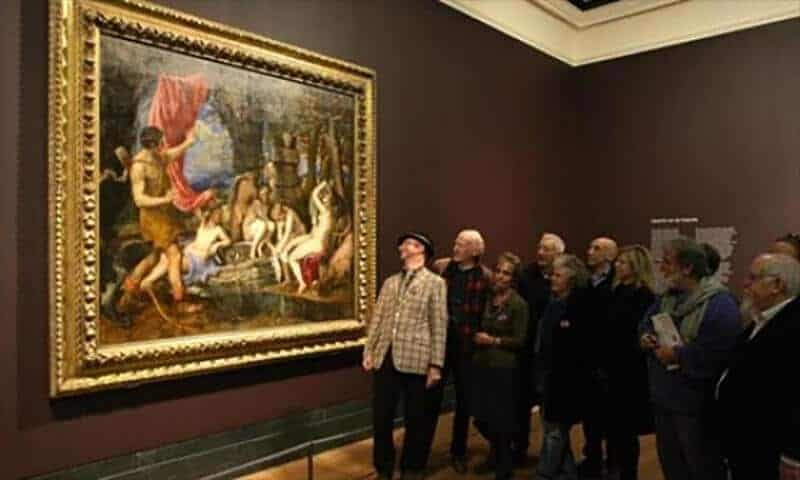 Titian's Diana and Actaeon at the National Gallery. Photograph: Dominic Lipinski/PA.
