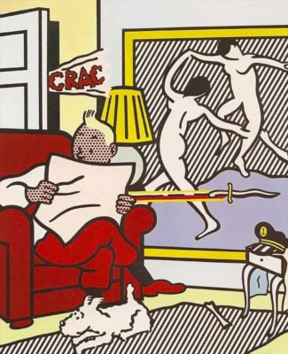 Roy Lichtenstein, 'Tintin Reading'